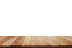 Деревянная изолированная таблица полки Стоковые Изображения RF