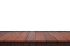 Деревянная изолированная таблица полки Стоковые Фото