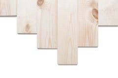 Деревянная изолированная текстура коричневого цвета планки Стоковое фото RF