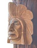Деревянная индийская голова Стоковое фото RF