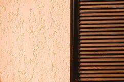 Деревянная и конкретная текстура Экран сделанный скрежетать предпосылка, космос экземпляра стоковые изображения