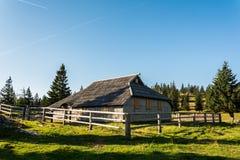 Деревянная кабина горы Стоковое Фото