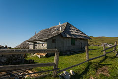 Деревянная кабина горы Стоковая Фотография RF