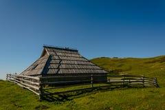 Деревянная кабина горы Стоковая Фотография