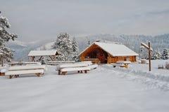 Деревянная кабина стоковое изображение rf