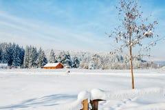 Деревянная кабина стоковое изображение