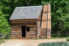 Деревянная кабина Mount Vernon Вашингтон стоковые фото