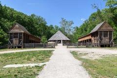 Деревянная кабина Mount Vernon Вашингтон Стоковые Изображения