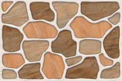 Деревянная каменная абстрактная предпосылка безшовная Стоковое фото RF