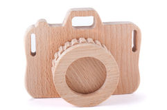 Деревянная камера игрушки Стоковое Изображение RF