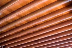 Деревянная картина конструкции планки на доме толя Стоковая Фотография RF