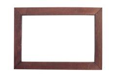 Деревянная картинная рамка изолированная на белизне Стоковое фото RF