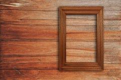 Деревянная картинная рамка Стоковое фото RF