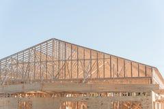 Деревянная коммерчески строительная конструкция Стоковые Фото