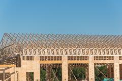 Деревянная коммерчески строительная конструкция Стоковые Изображения RF