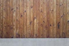 Деревянная конкретная предпосылка Стоковая Фотография RF