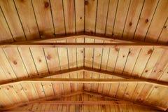 Деревянная конструкция рамки крыши Стоковая Фотография RF