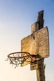 Деревянная корзина баскетбола Стоковое Изображение