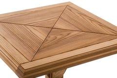 Деревянная коричневая античная таблица конца-вверх изолированная на белой предпосылке Стоковое Изображение