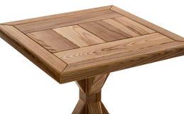 Деревянная коричневая античная таблица конца-вверх изолированная на белой предпосылке Стоковая Фотография RF