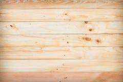 Деревянная коричневая предпосылка текстуры планки Стоковая Фотография