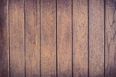 Деревянная коричневая предпосылка планки стены Стоковое фото RF