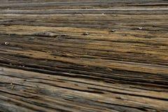 Деревянная коричневая стена, предпосылка, текстура, старая древесина стоковая фотография rf