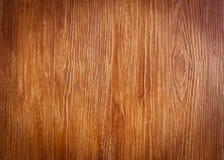 Деревянная коричневая текстура зерна, взгляд сверху деревянного стола Стоковое Изображение RF