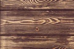 деревянная коричневая текстура зерна, темная предпосылка стены, Стоковая Фотография