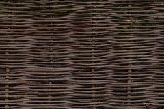 Деревянная коричневая текстура тонких сельских штаног загородки Стоковое Изображение