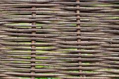 Деревянная коричневая текстура тонких сельских штаног загородки Стоковые Фото