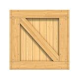 Деревянная коробка изолированная на белой предпосылке Стоковые Изображения