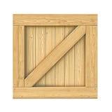 Деревянная коробка изолированная на белой предпосылке Стоковая Фотография