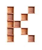 Деревянная коробка сделанная изолированного согласного Стоковые Изображения