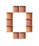 Деревянная коробка сделанная изолированного согласного Стоковое Изображение