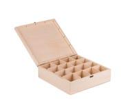 Деревянная коробка для шариков биллиарда Стоковые Изображения