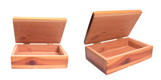 Деревянная коробка стоковая фотография rf