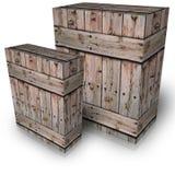 Деревянная коробка Стоковые Фото