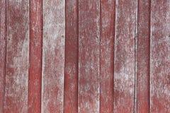 Деревянная красная старая стена Стоковая Фотография
