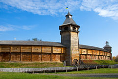 Деревянная крепость в Baturin Украине Стоковое фото RF