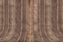 Деревянная кривая стены Стоковая Фотография