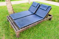 Деревянная кровать Стоковое Фото