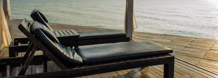 Деревянная кровать Стоковые Фото
