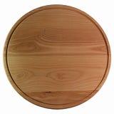 Деревянная круглая разделочная доска на белизне Стоковое Изображение RF