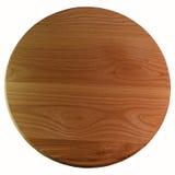 Деревянная круглая разделочная доска на белизне Стоковая Фотография
