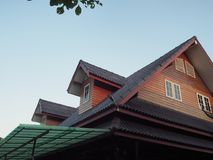 Деревянная крыша Стоковые Изображения