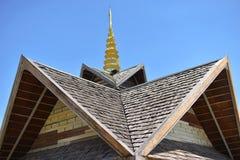 Деревянная крыша Стоковое Изображение