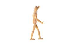Деревянная кукла в балансе Стоковое фото RF