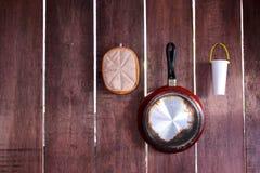 Деревянная кухня Стоковые Изображения