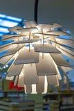 Деревянная лампа в современном конце стиля вверх стоковое фото rf